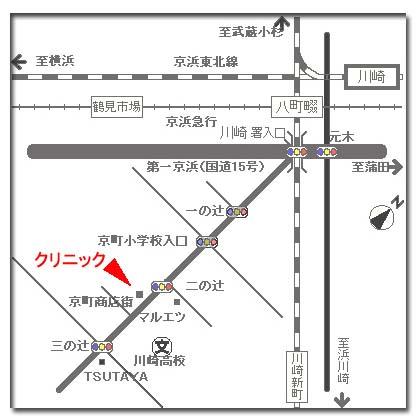 京町クリニックの地図